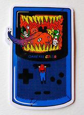 "Gameboy Super Mario Bros Parody , 8.5x6cm 3"" Decal Sticker waterproof PVC #2171"