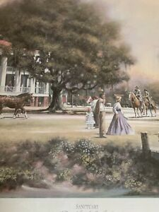 """Stan Strickland """"Sanctuary"""", Antebellum Pastels, Signed And Numbered, Civil War"""