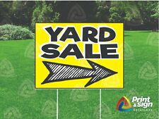 Yard Sale Sketchy 18x24 Sign Coroplast Printed Double Sided With Free Stand