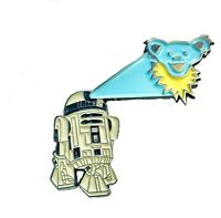 Grateful Dead Pin R2D2 Star Wars Dancing Bear Metal Lapel / Hat 1 1/2 in Pin