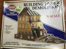 N Scale Model Power 'Building Under Demolition' Kit #1500, New Unbuilt Kit