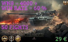 World of Tanks 4000+ wn8 60%+ / 50 fights / Professional game / WOT Boost