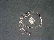 "BLI Sterling Silver Barley Wheat Grapes Chalice Teardrop Pendant 18"" Necklace"