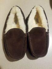 Ugg Australia Sheepskin & Leather Moccasin Slippers Shoes Youth Size: 1