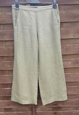FRENCH CONNECTION FCUK Green / Khaki Linen Trousers size UK 12