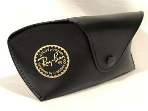 Large Ray Ban Aviator Sunglasses Eyeglasses Black Protective Case with Belt Loop