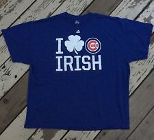 MLB Chicago Cubs Baseball by Majestic • Men's ST PATRICK DAY SHAMROCK Shirt 2XL