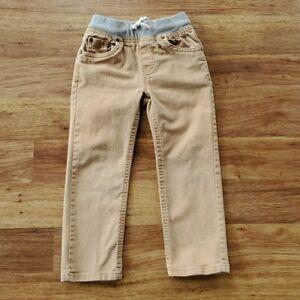 Cat & Jack Boy's 4T Straight Leg Tan Elastic Waist Jeans