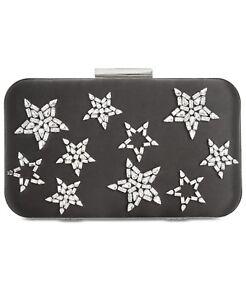 INC International Concepts Anna Sui Rhinestone Star Clutch Black, MSRP $89