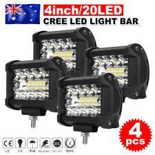 4x 4inch CREE LED Work Bar Spot Flood OffRoad Driving Light Reverse 4x4 Ford 4WD