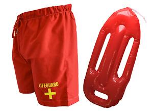 Dissolving Stag Do Lifeguard Set Prank Joke Swim Shorts Bachelor Party