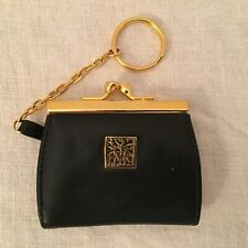 ANNE KLEIN BLACK LEATHER COIN PURSE - NWOT