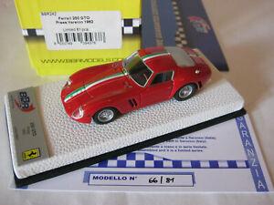 BBR 1/43 FERRARI 250 GTO PRESS VERSION 1962 BBR242 WHITE LEATHER BASE