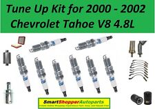 Tune Up Kit For 00-2002 Chevrolet Tahoe Spark Plug Wire Set, Air Oil Fuel Filter