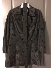 CARLISLE Double Breasted Coat Jacket Black 14 Lightweight Velvet Embossed