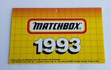 Very Rare Matchbox Toys Catalogue, Dated 1993, - Superb Mint Condition.