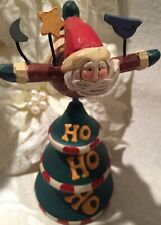 Flying Santa Figure Figurine Christmas Decor Midwest Of Cannon Falls Ho Ho Ho 7�