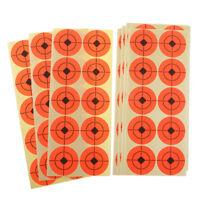 Cibles de tir 250pcs cible de papier fluorescent chasse arc flèche gamme