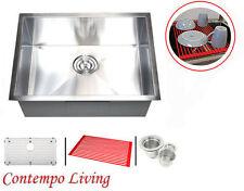 "26"" Stainless Steel Undermount  Zero Radius Kitchen Sink with Accessories combo"