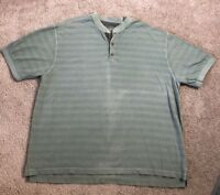 Cabela's Men's 2XL XXL Green Short Sleeves Basic Shirt Casual 100% Cotton Thick
