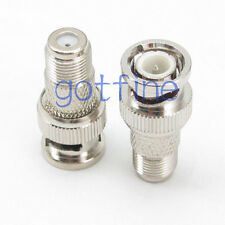 F female jack to BNC male plug straight RF connector adapter