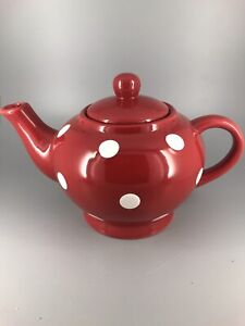 Red & White Polka Dot 4 Cup Teapot.  18Z