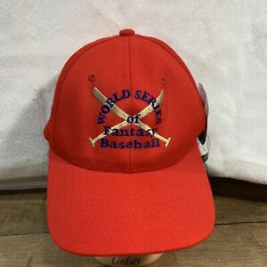 World Series of Fantasy Baseball hat cap Red Flexfit Yupoong Permacurv L/XL