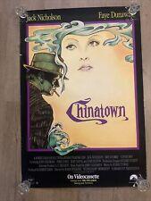 Chinatown Movie Poster 1990 Original 27x40 Video 1sht Jack Nicholson