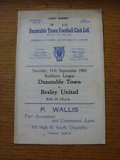 11/09/1965 Dunstable Town v Bexley United  (Marked On Front)