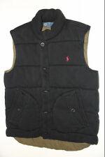 Ralph Lauren Down Puffy Warm  Fleece Vest flag Black Vest men XLarge  XL
