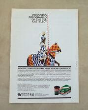E892- Advertising Pubblicità -1986- FUJI FILM PELLICOLE HR 100