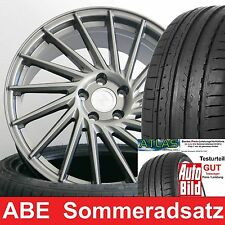 """18"""" ABE KT17 Hurricane PP RS 225/40 Atlas Reifen für VW Golf 6 VI R Typ 1K + GTI"""