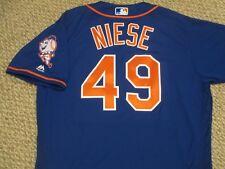Jonathan Niese sz 48  #49 2016 New York Mets game jersey home blue MLB