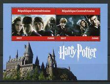 República Centroafricana 2017 CTO Harry Potter 2 V m/s i hogwarths Castillo sellos