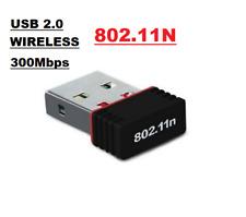 Mini USB Wireless wifi adapter 300mbps wi-fi receiver 802.11n  For Mac Windows.