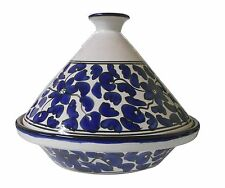 "10 1/2"" Ceramic Tagine,TAJINE Chicken TANGIA Steam COOK WARE Clay Pot Tangi"