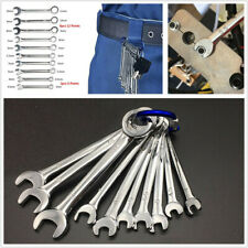 10pcs Mini Combination Small Engineer Wrench Spanner Set 4 11mm Metric With Hook