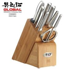 NEW Global Takashi 10 Piece Stainless Steel Japanese Knife Block Set 79589