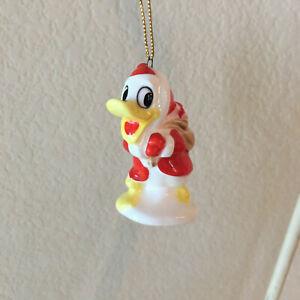VTG Walt Disney Productions Ceramic Donald Duck Santa Christmas Ornament Japan