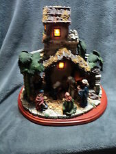 Lighted Musical Heritage House Nativity O Little Town Of Bethlehem