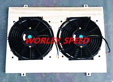 Aluminum Shroud+Two Fans for Holden Statesman WB V8 1980-1984 80 81 82 83 84
