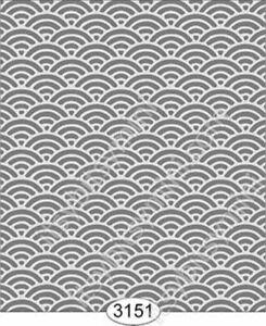 Dollhouse Quarterscale Wallpaper - Shell Dark Grey