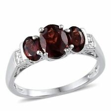 Mozambique Garnet Sterling Ladies Ring size 7 (2.40 cts) (DD)
