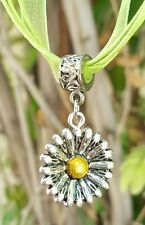 🌼 DAISY NECKLACE BOHO SILVER & GOLD DAISY FLOWER TEEN GIRL BIRTHDAY GIFT NEW