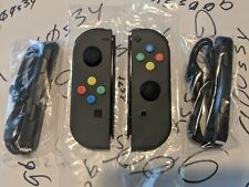 NEW​ Nintendo Switch Custom Gray Joy Cons w/ SNES Colored Buttons