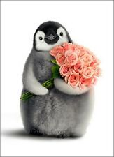 Penguin With Flower Bouquet Funny Valentine's Day Card by Avanti Press