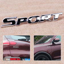 Chrome Silver 3D Sport Letter Logo Emblem Badge Stickers Auto Bumper Grill Decal