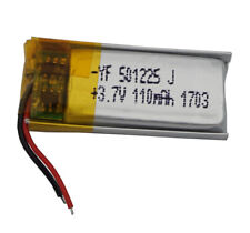 3.7V 110 mAh Polymer Li ion lithium For GPS Bluetooth Headset pen Glasses 501225