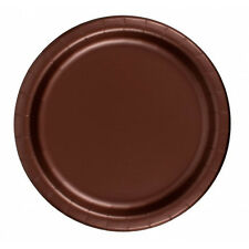 "24 Plates 6 7/8"" Paper Dessert Plates Wax Coated - Brown"