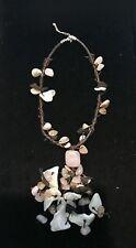 """Semi Precious Stone/Shell 32"""" Necklace! Sterling Silver Catch !"""